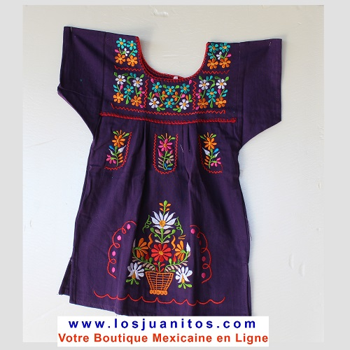Robe Mexicaine - Taille 1 ans - Violette