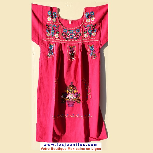 Robe Mexicaine - Taille 12 ans - Rose