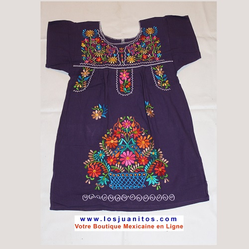 Mini Robe Mexicaine - Taille S - Lilas