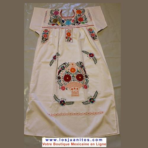 Robe Mexicaine - Taille M - Blanche