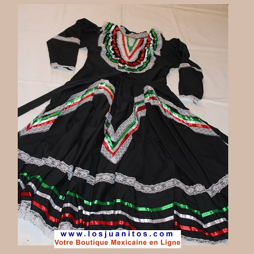Robe Mexicaine - Jalisco - Noire
