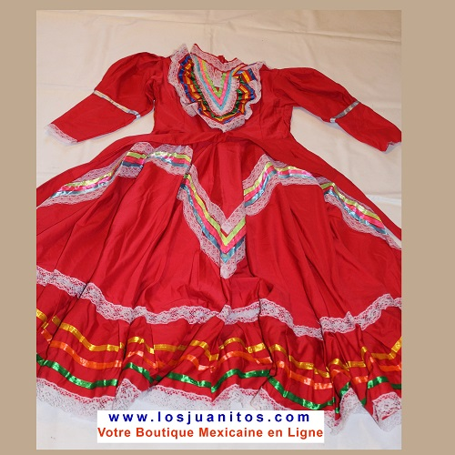 Robe Mexicaine - Jalisco - Rouge