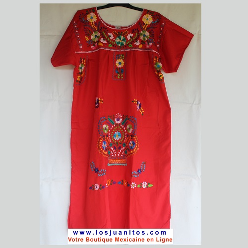 Robe Mexicaine - Taille XL - Rouge
