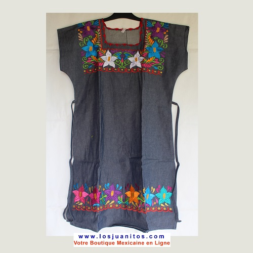 Robe Mexicaine - Taille L - Denim