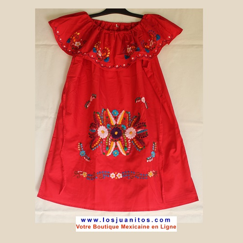 Robe Mexicaine - Taille XXL - Rouge