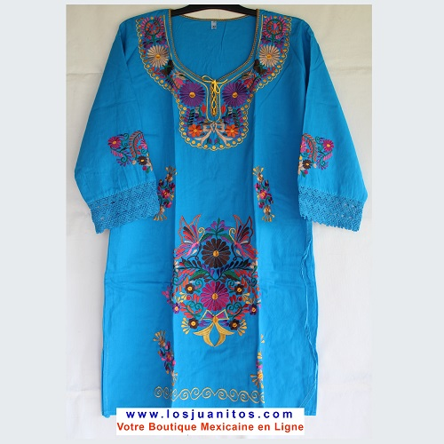 Mini Robe Mexicaine - Taille XL - Turquoise