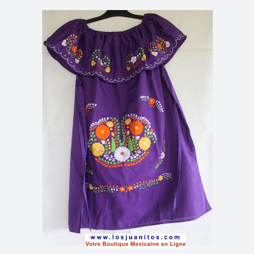 Robe Mexicaine - Taille XXL - Violet
