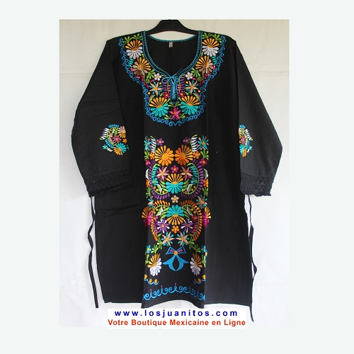 Mini Robe Mexicaine - Taille 3XL - Noire