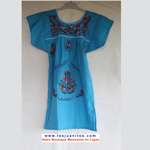 Robe Mexicaine - Taille 6 ans - Bleu