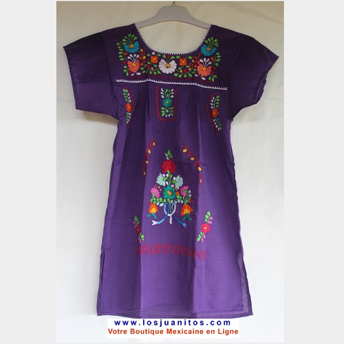 Robe Mexicaine - Taille 6 ans - Violette