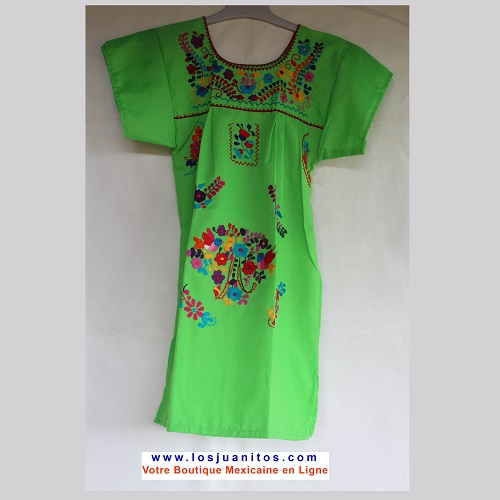 Robe Mexicaine - Taille 6 ans - Vert