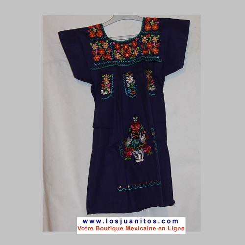 Robe Mexicaine - Taille 4 ans - Violette