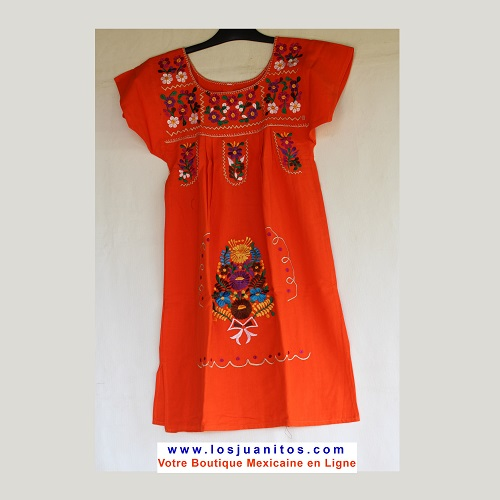 Mini Robe Mexicaine - Taille XS - Orange