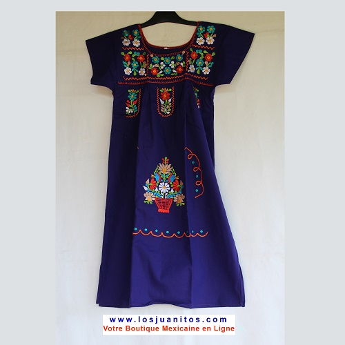 Mini Robe Mexicaine - Taille XS - Violette