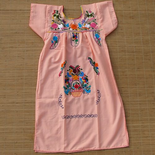 Robe Mexicaine Brodée - Taille 10 ans - Rose