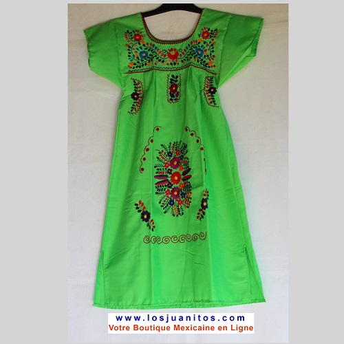 Robe Mexicaine - Taille 10 ans - Verte