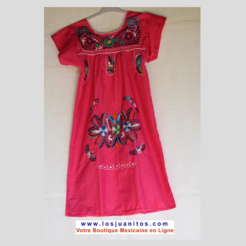 Robe Mexicaine - Taille 10 ans - Rose