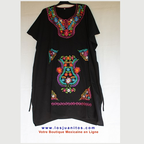 Robe Mexicaine - Taille 5XL - Noire
