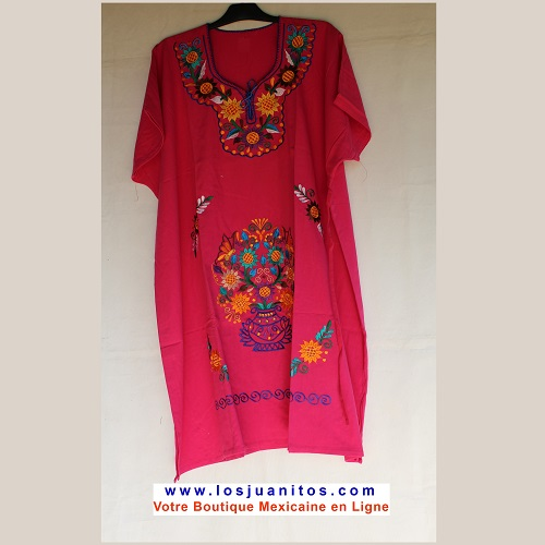 Robe Mexicaine - Taille 4XL - Rose