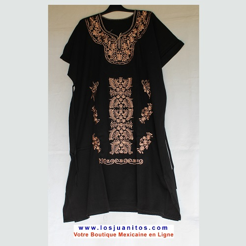 Robe Mexicaine - Taille 4XL - Noire