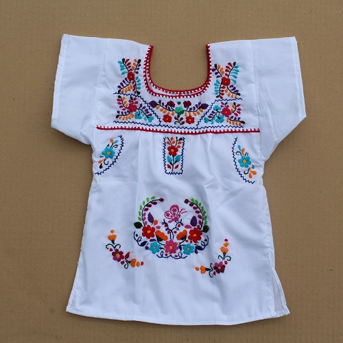 Robe Mexicaine - Taille 4 ans - Blanche II
