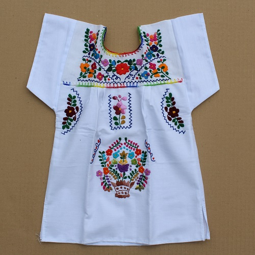 Robe Mexicaine - Taille 4 ans - Blanche III