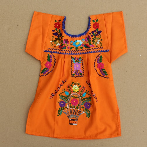 Robe Mexicaine - Taille 4 ans - Orange