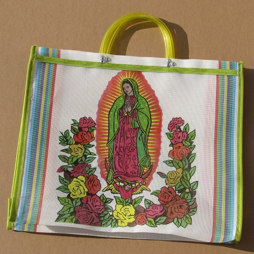 Sac Mexicain - Vierge de Guadalupe - Blanc