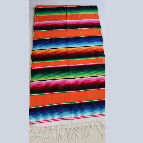 Sarape Mexicain - 200 x 120 cm - Orange