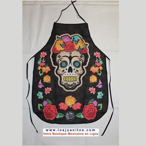 Acheter Tablier Cuisine Original Produit Mexicain Deco Frida Kahlo