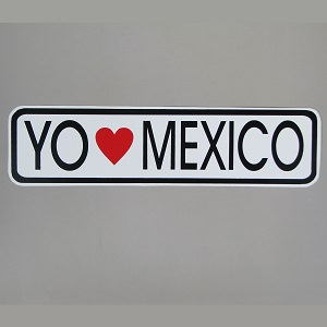 Auto collant - Yo amo Mexico N°6