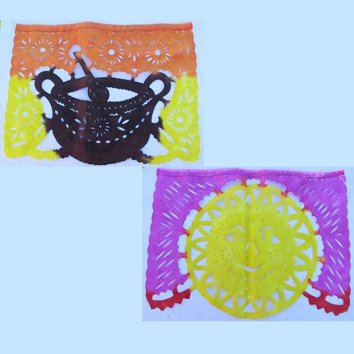 Papel picado multicolore N°1