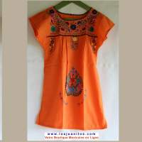 Robe Mexicaine - Taille 6 ans - Orange