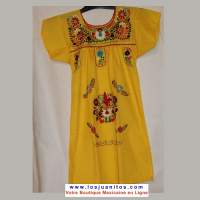 Robe Mexicaine - Taille 8 ans - Jaune